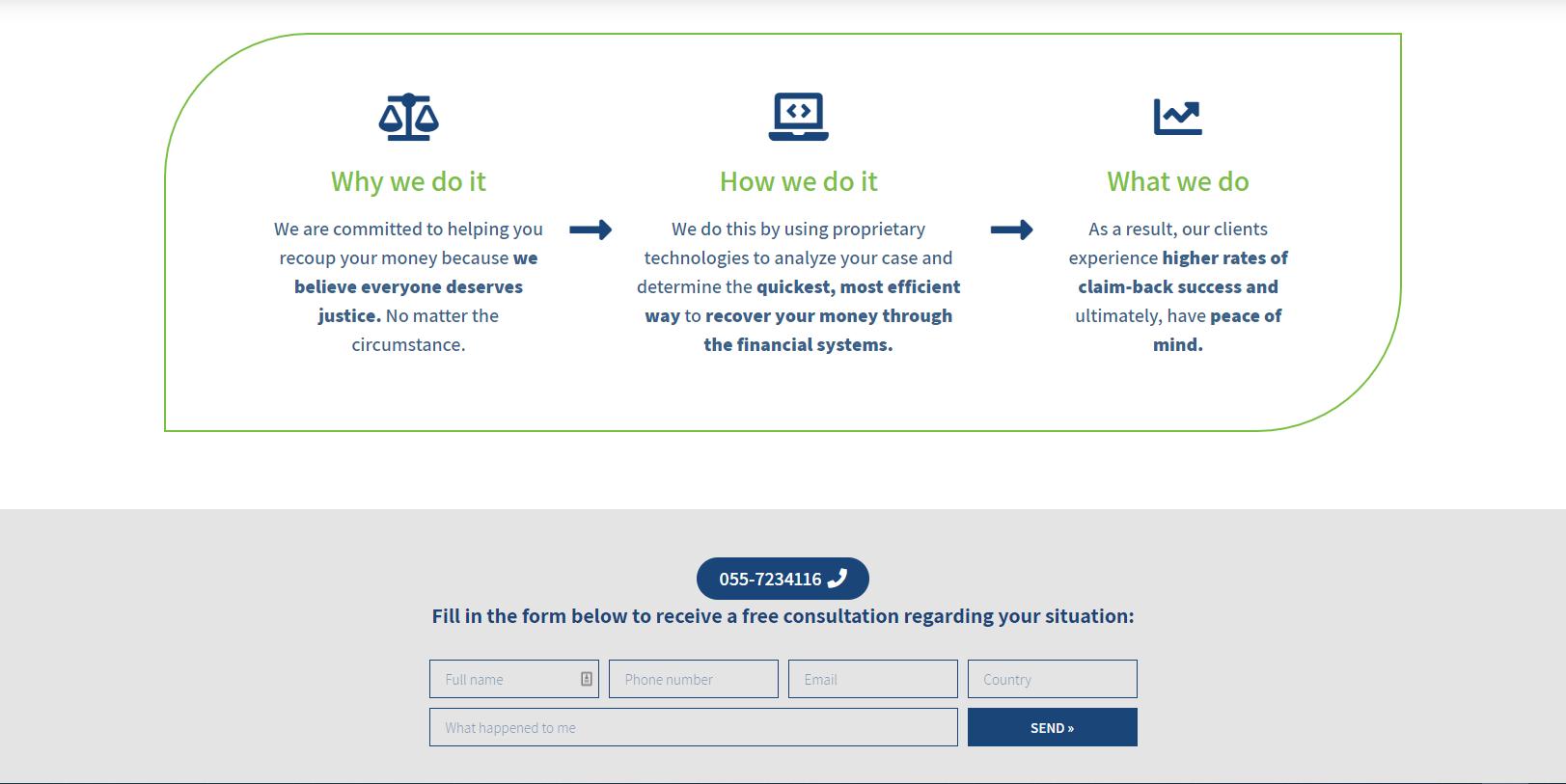 """בניית אתר מלא לחברה בתחום השבת כספים- """"Money Recoup"""""""